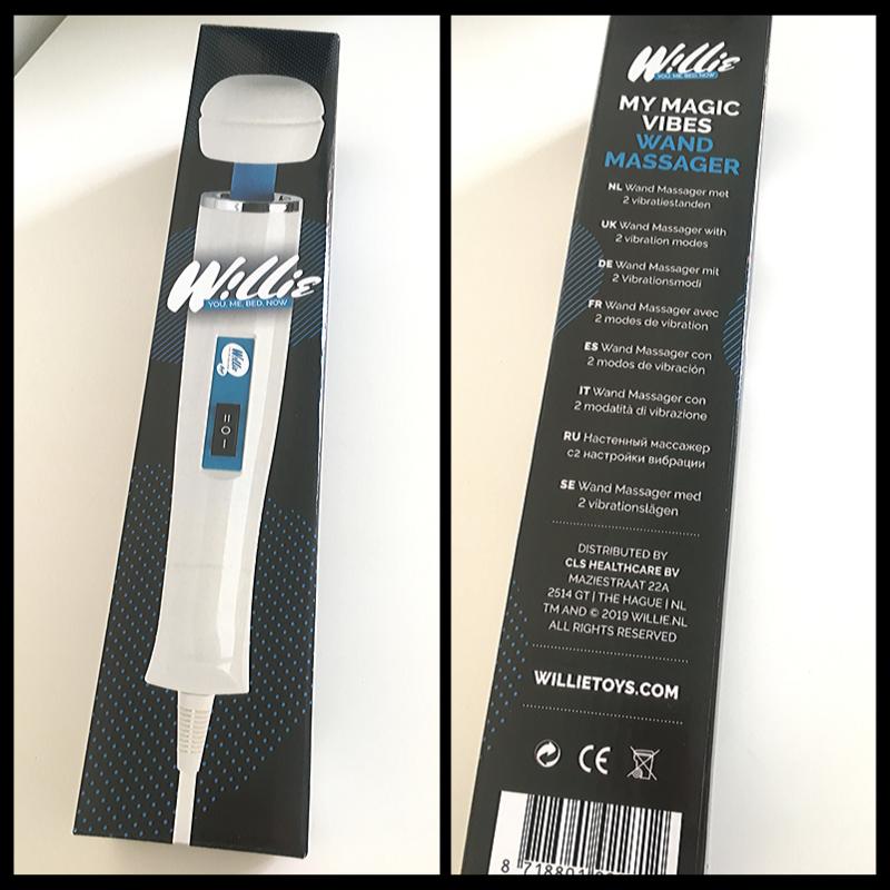 De simpele verpakking van de Willie Wand